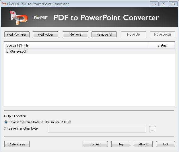 Click to view FirePDF PDF to PowerPoint Converter screenshots